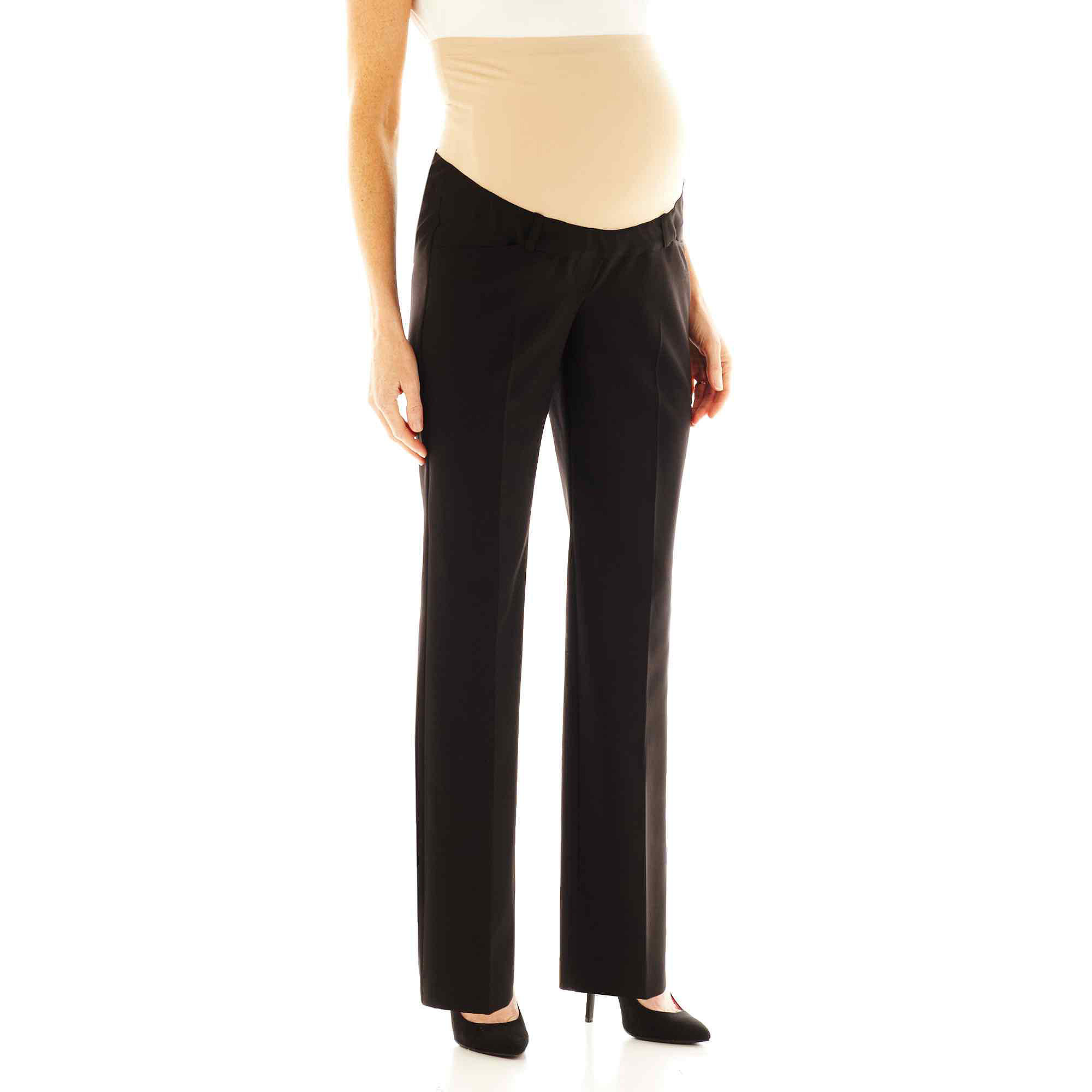 duo™ Maternity Overbelly Straight-Leg Trouser Pants plus size,  plus size fashion plus size appare