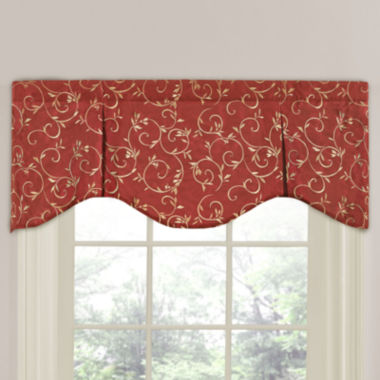 Napoli Scalloped Rod-Pocket Valance