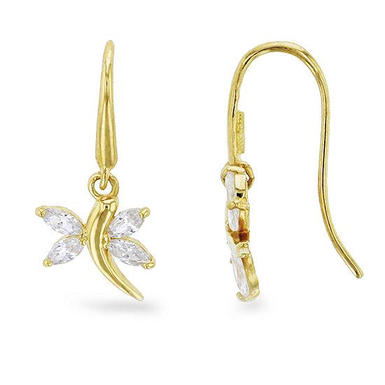 1 1/4 CT. T.W. White Cubic Zirconia 14K Gold Drop Earrings