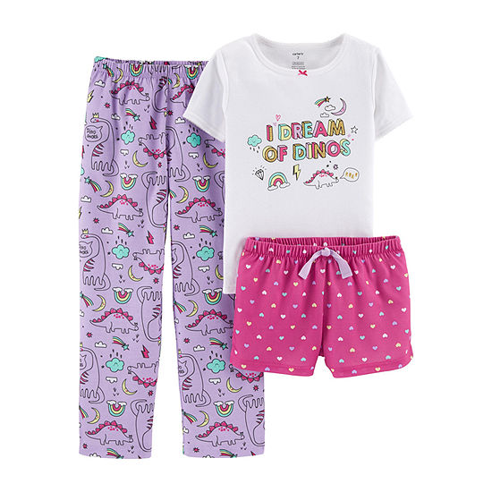 Carter's Carter'S 3-Pc. Cotton Sleep Set - Preschool Girl 3-pc. Pajama Set Preschool / Big Kid Girls