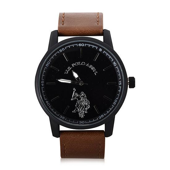 U.S. Polo Assn. Mens Brown Strap Watch-Usc50499jc