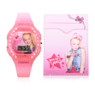 Jojo Siwa Holiday 2018 Unisex Pink Strap Watch-Joj40034jc