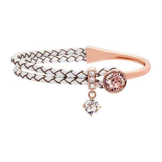 Sparkle Allure Pink 18K Rose Gold Over Brass Wrap Bracelet