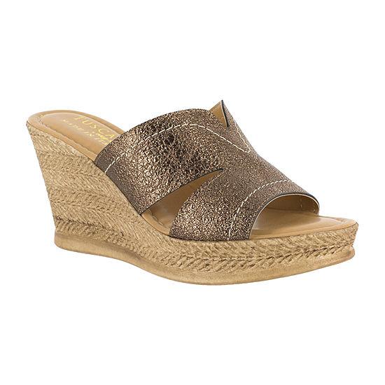 Easy Street Womens Marsala Wedge Sandals