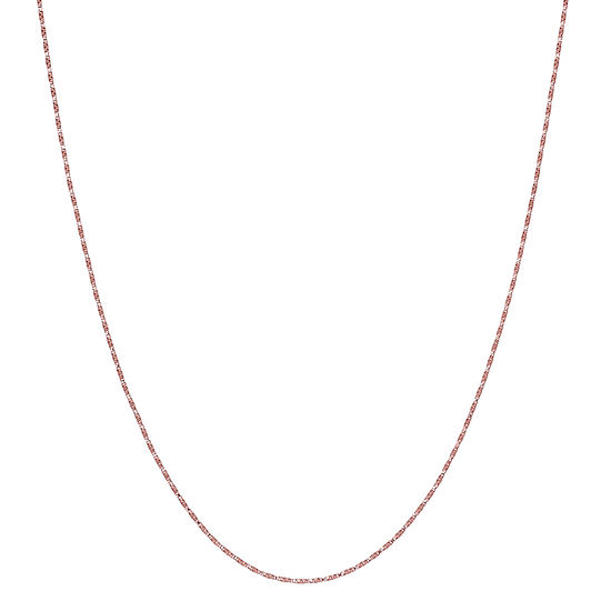 Made in Italy 14K Rose Gold 18 Inch Hollow Box Chain Necklace
