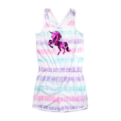 Jelli Fish Kids Unicorn 1pc Pajama Romper - Girls