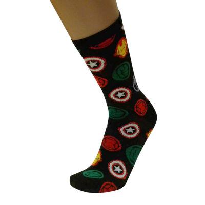 Avengers 1 Pair Crew Socks - Mens