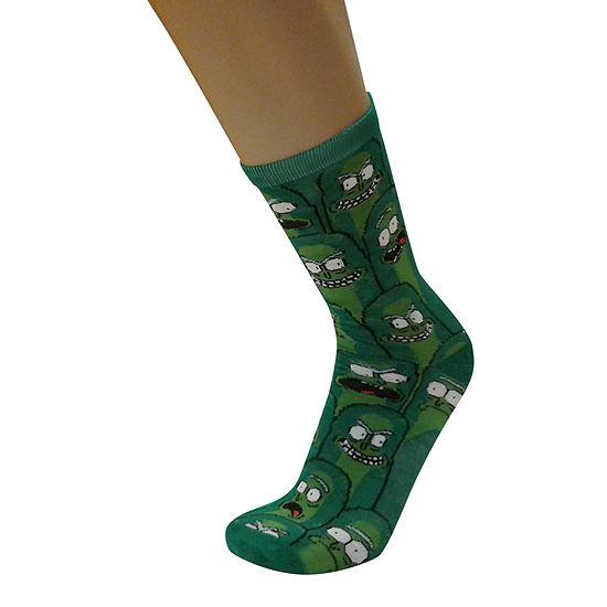 Pickle Rick 1 Pair Crew Socks - Men's