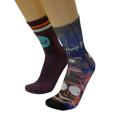 Rick and Morty 2 Pair Crew Socks