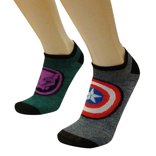 Marvel 2 Pair No Show Socks-Mens