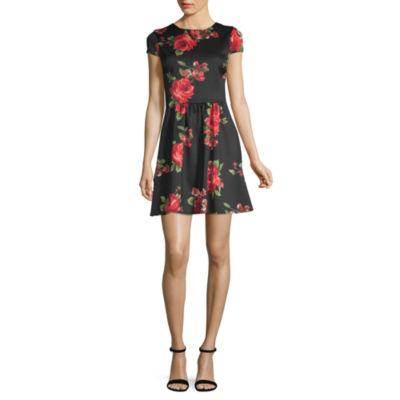 B. Smart Short Sleeve Party Dress-Juniors