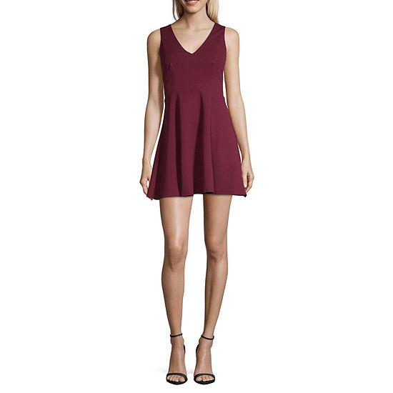 B. Smart Sleeveless Skater Dress-Juniors