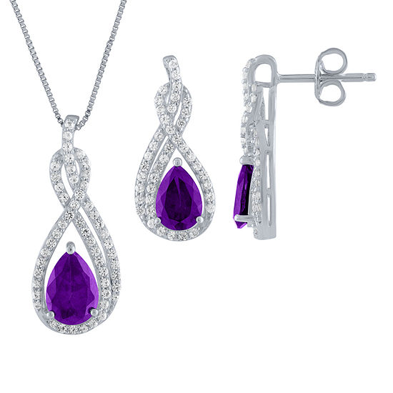 db612044b01899 Genuine Purple Amethyst 2-pc. Jewelry Set - JCPenney