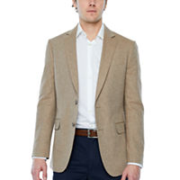 Deals on Stafford Linen Cotton Herringbone Classic Fit Sport Coat
