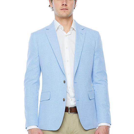 Stafford Linen Cotton Basketweave Slim Fit Sport Coat