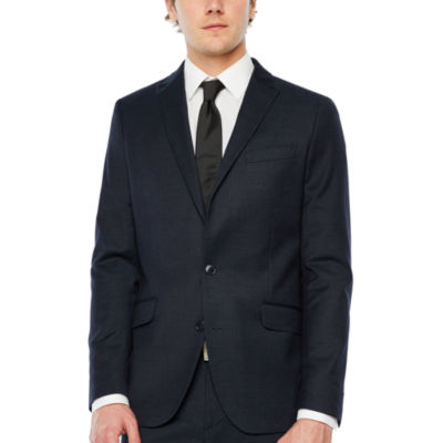 JF J.Ferrar Geometric Slim Fit Stretch Suit Jacket