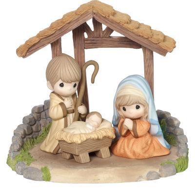Precious Moments 4-pc. Hand Painted Nativity Set