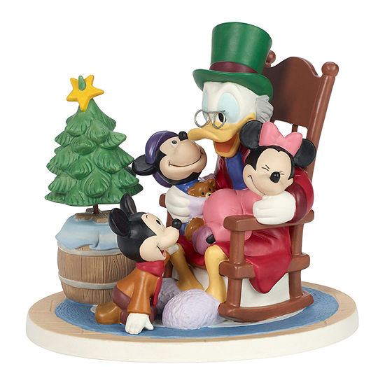 Precious Moments Scrooge And Kids Tabletop Decor