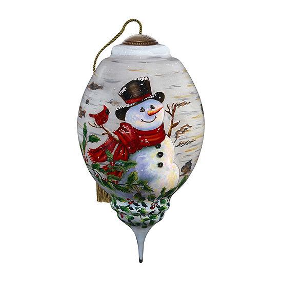 Precious Moments Snowman Christmas Ornament