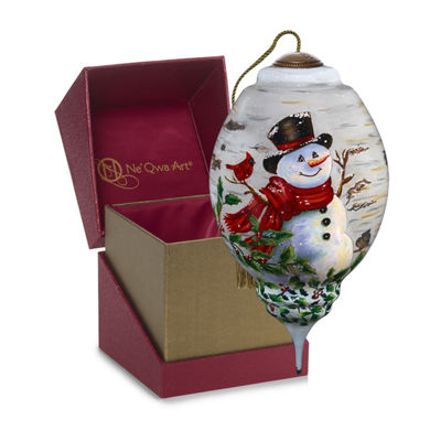 Precious Moments Snowman Christmas Ornament