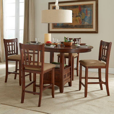 Mission 5-Pc Counter Height Dining Set
