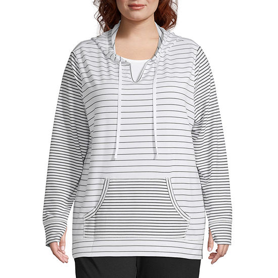 St Johns Bay Active Raglan Sleeve Pullover Plus