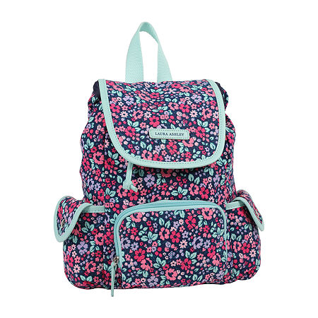 Laura Ashley Girls Floral Backpack, One Size , Purple