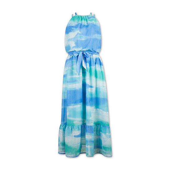 Speechless Big Girls Sleeveless Tie Dye Maxi Dress