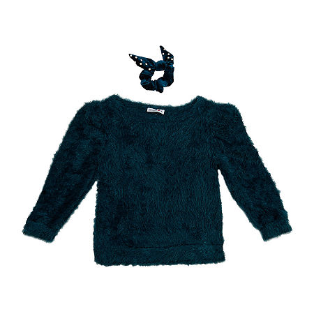 Knit Works Big Girls Boat Neck 3/4 Sleeve Pullover Sweater, Large (14) , Green