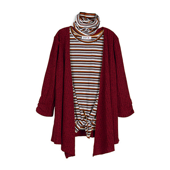 Knit Works Big Girls Sleeveless Scoop Neck Layered Top