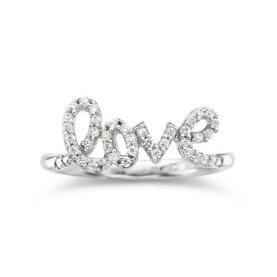1/5 CT. T.W. Diamond Love Ring Sterling Silver