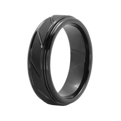 Men's 7mm Comfort Fit Grooved Tungsten Wedding Band