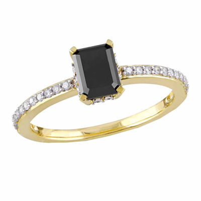 Midnight Black Womens 1 1/5 CT. T.W. Black Diamond 10K Gold Engagement Ring