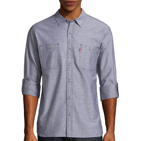 Levi's® Chalk Long Sleeve Woven Shirt