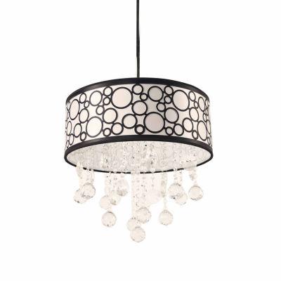 Warehouse Of Tiffany Crystal Polka Pendant Lamp