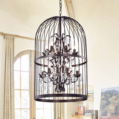 Warehouse Of Tiffany Rinee Cage Chandelier