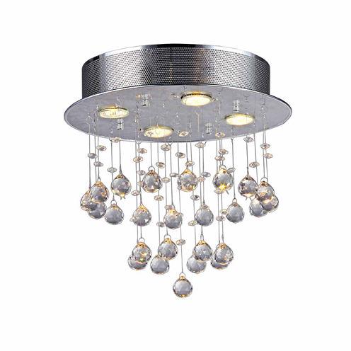 Warehouse Of Tiffany Marks Crystal 4-light ChromeChandelier