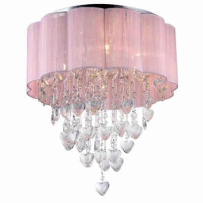 Warehouse Of Tiffany Eos 6-Light Chrome Ceiling Lamp