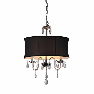 Warehouse Of Tiffany 1-light Vince Crystal Chandelier