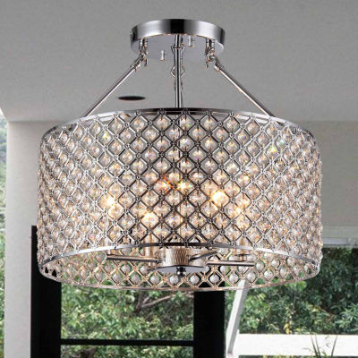 Warehouse Of Tiffany Kirsten Crystal Semi-Flush Mount