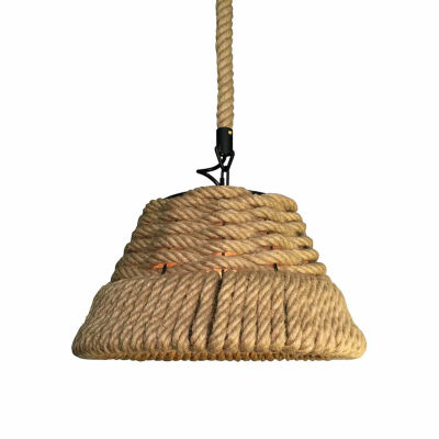 Warehouse Of Tiffany Sapphira 1-light Hemp Rope 16-inch Edison Chandelier with Bulb