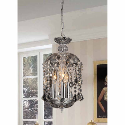 Warehouse Of Tiffany Karla 3-light Clear Glass 11-inch Crystal Chandelier
