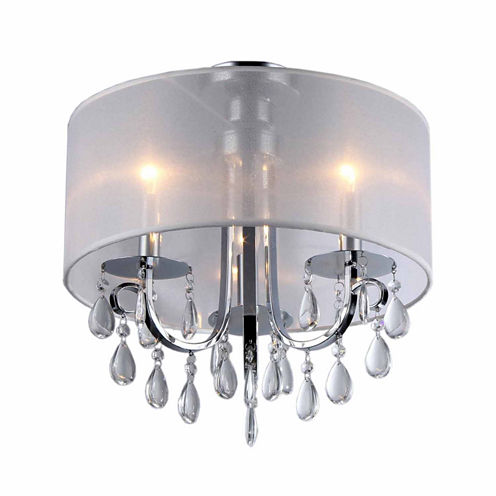 Warehouse Of Tiffany Muses Crystal 16-inch Chrome Chandelier