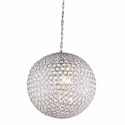 Warehouse Of Tiffany Jasmine 2-light Round Crystal 10-inch Chrome Chandelier