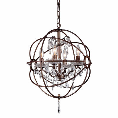 Warehouse Of Tiffany Edwards Antique Bronze 16-inch Crystal Chandelier