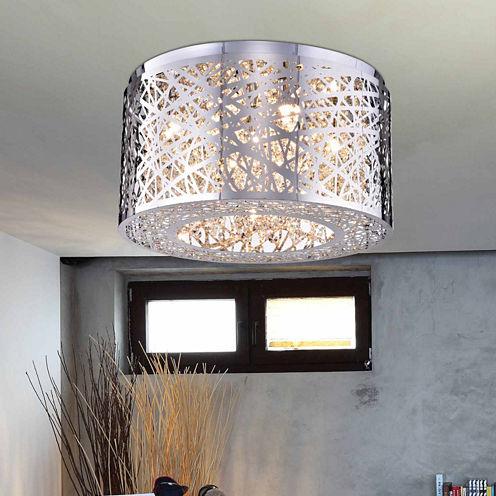 Warehouse Of Tiffany Rubens 5-light Chrome Chandelier