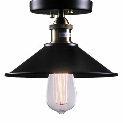 Warehouse of Tiffany Candice 1-light Black Edison Lamp with Bulb