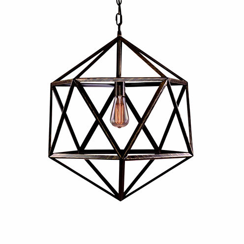 Warehouse Of Tiffany Diamond Cage 1-light Edison Lamp with Bulb