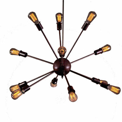 Warehouse Of Tiffany Jackstone 12-light Bronze Edison Lamp with Bulbs