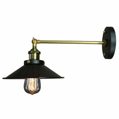 Warehouse Of Tiffany Dorothy 1-light Black EdisonWall Sconce with Light Bulb